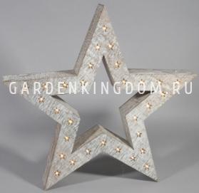 Светильник декоративный ЗВЕЗДА, 52 см, серый