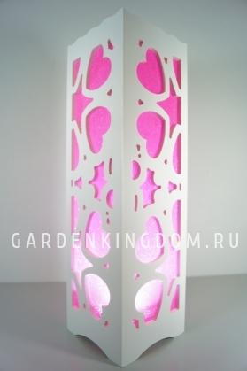 Светильник интерьерный ФЕЙЕРВЕРК, 34 см, розовый