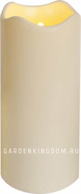 Свеча пластиковая сенсорная,  23 см, белая