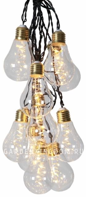 Гирлянда GLOW 10-LIGHT, 8.6 м, желтый