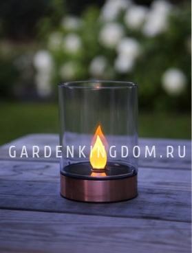 Свеча LED в стакане Solar energy,с эффектом пламени, 13 х 9 см
