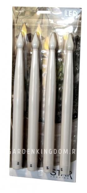 Комплект свечей ANTIQUE, 29 см, 4 шт., пластик