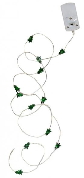 Гирлянда STRING, 1,1 м, зеленый, на батарейках