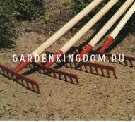 Грабли 14 зубцов с ручкой, ширина 34 см