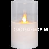 Свеча M-TWINKLE в прозрачном стакане, 12,5 см, белый