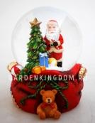 """Снежный шар музыкальный """"Санта с подарками"""", диаметр 6,5 см."""