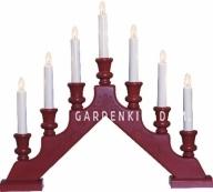 Горка рождественская SARA, 7 свечей, 38 см, красный