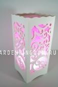 Светильник интерьерный АЖУР, 23 см, розовый