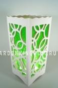 Светильник интерьерный КОЛЬЦА, 23 см, зеленый