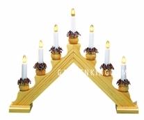 Горка рождественская KARIN-7, 7 свечей, 35 см, береза