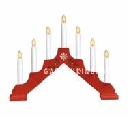 Горка рождественская ADAM-7, 7 свечей, 30 см, красный