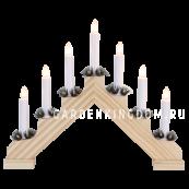 Горка рождественская ADA, 7 свечей, 30 см, сосна