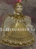 """Кукла подвесная малая """"Ангелочек"""", золото"""