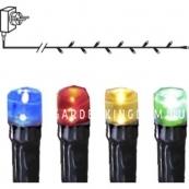 Гирлянда, 120 ламп, 12,2 м, разноцветный, черный провод, серия SERIE MICROLED