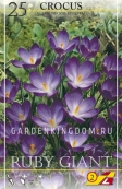 Крокус ботанический  RUBY GIANT, 25 шт