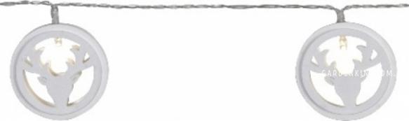 Гирлянда на батарейках WOODWORKS, 2,3 м, прозрачный провод, белый