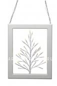 Светильник-подвес Дерево в рамке, 31 см, белый