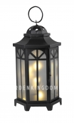 Светильник фонарь KANTIS с гирляндой, 40 см, черный