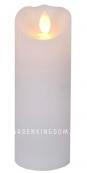 Свеча с эффектом мерцающего пламени, 15 см, таймер, белый воск