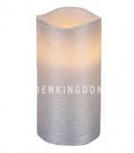 Свеча LINDA, 15 см, таймер, серебряный воск