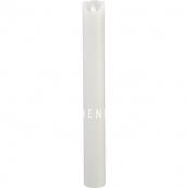 Свеча M-TWINKLE с эффектом живого пламени, 40 см, таймер,  белая