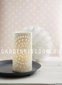 Свеча MANDY со сменой цветов, 15 см, пластик, 2 режима: теплый белый и разноцветный