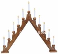 Горка рождественская STELLAN, 11 свечей, 75 см, дерево