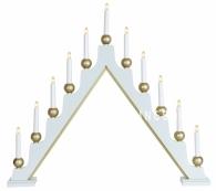 Горка рождественская STELLAN, 11 свечей, 75 см, белый