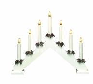 """Горка рождественская """"Рождество"""", 7 свечей, 30 см, белый"""