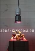 Лампа для подсветки растений 230 V (Вольт), 5 W (Ватт), патрон Е27, розово-фиолетовый свет, 1 шт