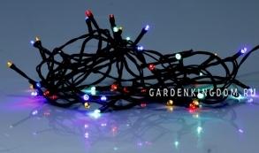 Гирлянда для улицы, 160 ламп, разноцветный, черный провод, серия SERIE LED