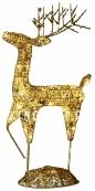 Фигура Олень SEQUIN DEER, 68 см, золотой