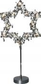 Звезда на подставке PEARL&DIAMOND, 52 см, жемчужный черный