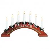 Горка рождественская VERA, 7 свечей, 23 см, орех
