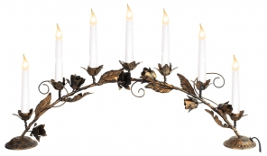 Горка рождественская ROSETTA BOW-7, 7 свечей, 35 см, бронза