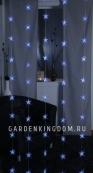Занавес со звездами 90х200 см, синий