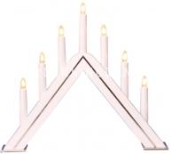 Горка рождественская JARVE, 7 свечей, 35 см, белая