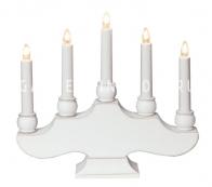 Горка рождественская HANNA, 5 свечей, 27 см, белая