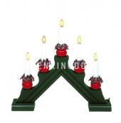 Горка рождественская KARIN-5, 5 свечей, 28 см, зеленая