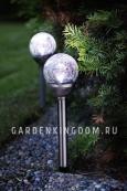 Садовый светильник Шарик Solar energy, 2 штуки, 39 см