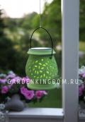 Садовый светильник Фонарик керамический Solar energy, зеленый