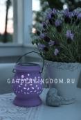 Садовый светильник Фонарик керамический Solar energy, сиреневый