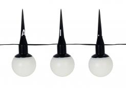 Гирлянда садовых светильников Шарики Solar energy, 6 штук, белые