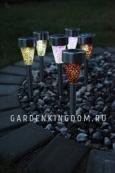 Садовый светильник Мозаика Solar energy, 36 см, разноцветный