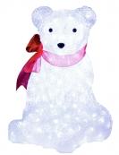 Фигура Медвежонок с бантом, 40 см, белый