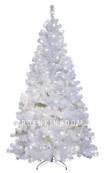 Ель искусственная с лампочками ОТТАВА, 210 см, белая