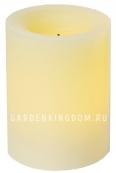 Свеча меняющая цвет, 10 см, таймер, белый воск