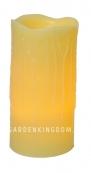 Свеча с эффектом оплавленной свечи, 30 см, таймер, желтый воск