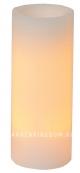 Свеча с эффектом мерцания, 25 см, таймер, белый воск