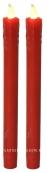 Свечи 2 шт., 23 см, красный  воск